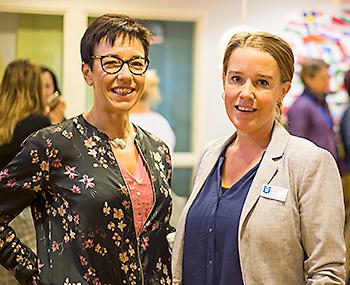 Lotta Andersen och Christina Falk på Errarps skola. Foto: Anna Matre, Bjäreliv